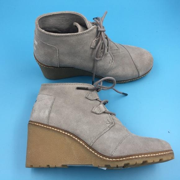 60c7c03af29 Toms Desert Wedge Boots DR00403 Sz 8.5